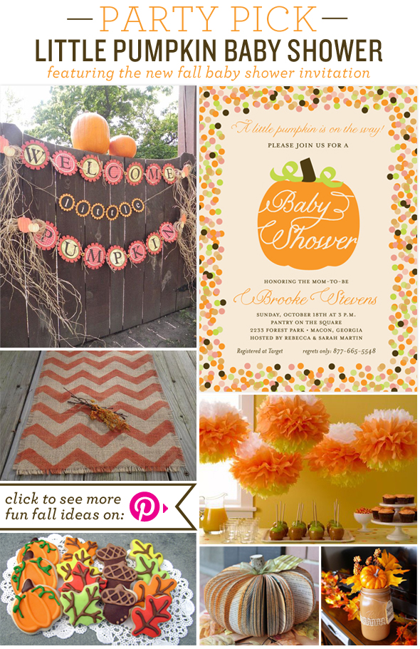 Fall-Baby-Shower-Party-Picks Party Pick Little Pumpkin Baby Shower Party