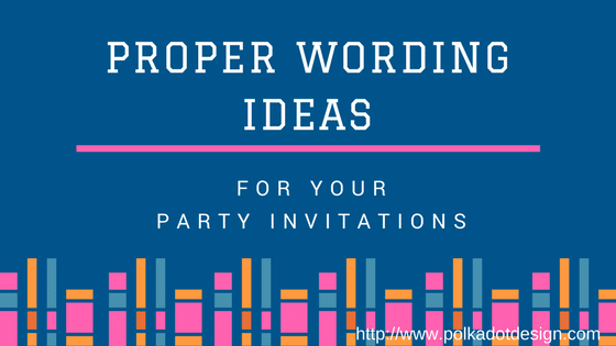 book-drive Proper Wording Ideas For Your Party Invitations