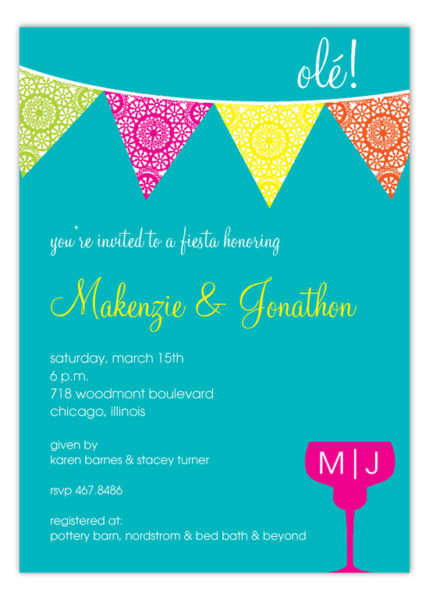 Party invitation wording ideas page 2 polka dot design polka fiesta flag banner invitation pcdd np57ws1154pcdd 429x600 party invitation wording stopboris Images