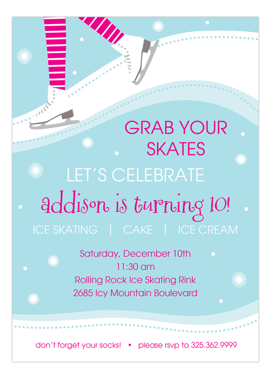Kids party wording ideas polka dot design polka dot design blog sweet skating invitation pmp np57hc1151pmp kids party wording ideas stopboris Images