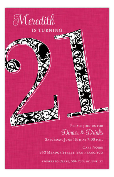 Twenty One Reasons Invitation Pddd Np58py0111 388x600 Party Invitation  Wording